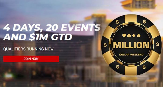 It's a Million Dollar Weekend at Bovada Poker with $1 Million Guaranteed!
