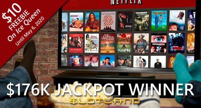 Slotland Player Wins $176,980 Jackpot, Buys Big TV for Netflix Binging