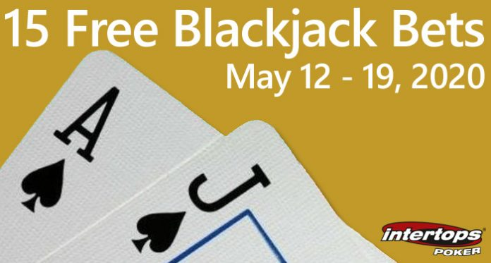 Players Can Win Up to $250 with Free Blackjack Bets at Intertops Poker