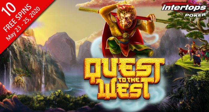 Intertops Poker Giving 10 Free Spins on New Quest to the West Slot
