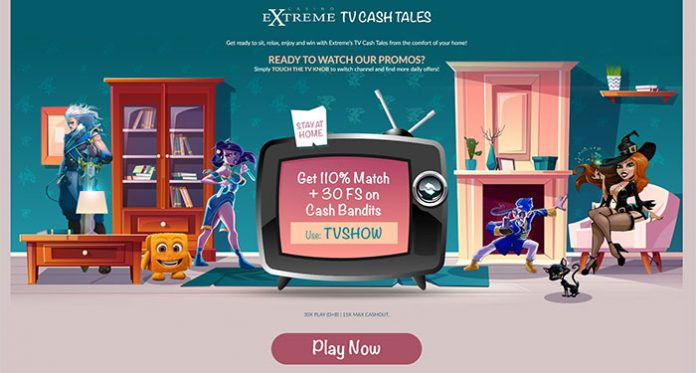 Extreme TV Cash Tales Promo at Casino Extreme