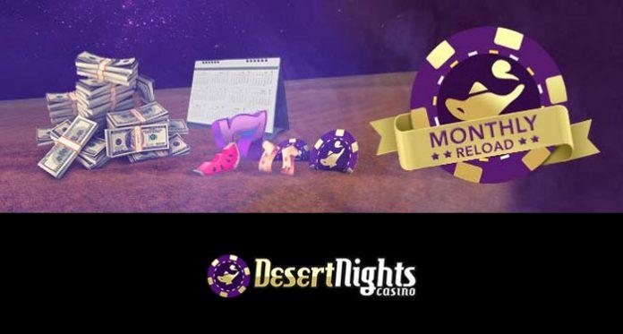 Get Your 177% Monthly Reload Bonus at Desert Nights Casino